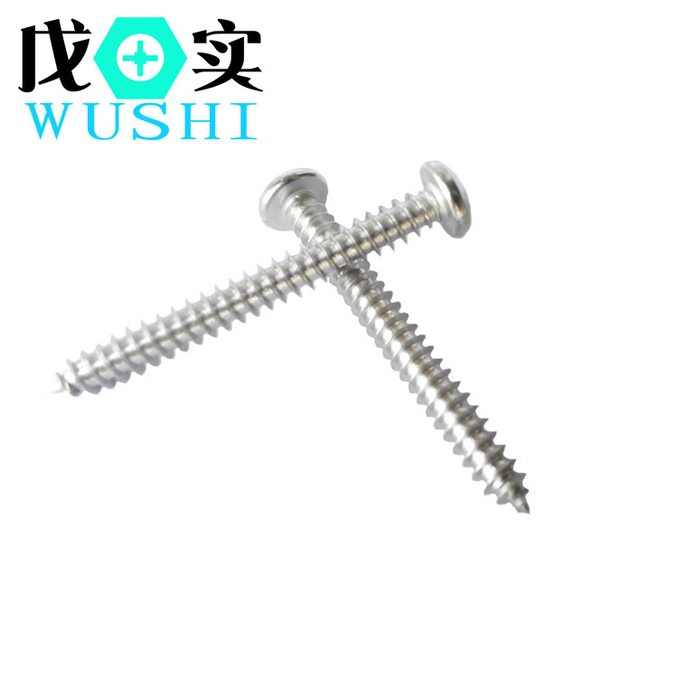 ST6 cross round head tapping screw 304pa pan head screw supplied by Foshan factory
