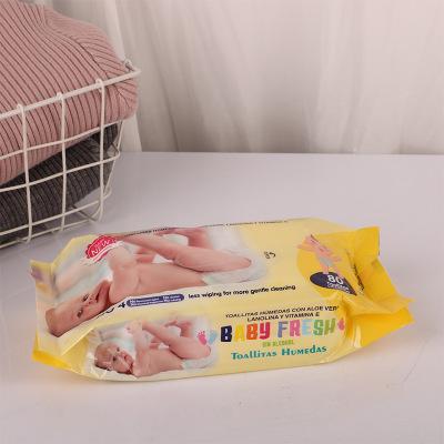 Khăn ướt Nhà máy sản xuất 80 khăn giấy ướt trẻ em có thể xuất khẩu khử trùng chống vi khuẩn khăn giấ