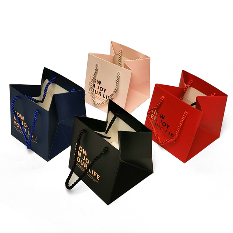 MHXS Spot general jewelry jewelry and cosmetics gift bag pink clothing gift packaging portable paper