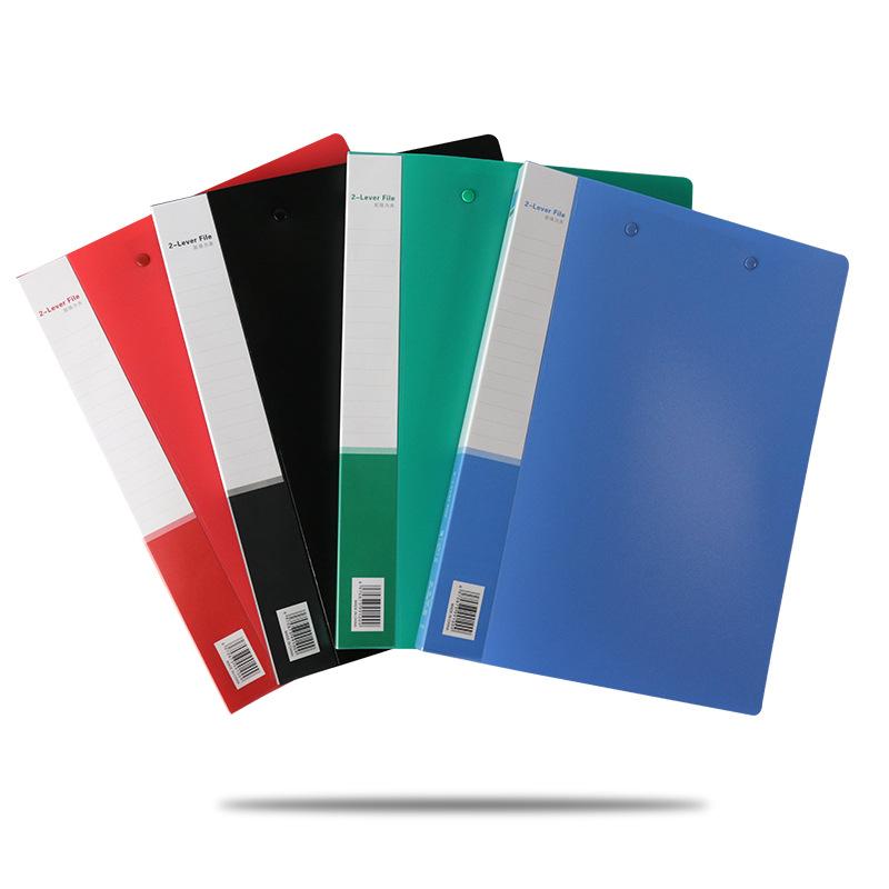 HUAHANG Plastic folder A4 binder single strong folder office storage folder PP file folder double fo