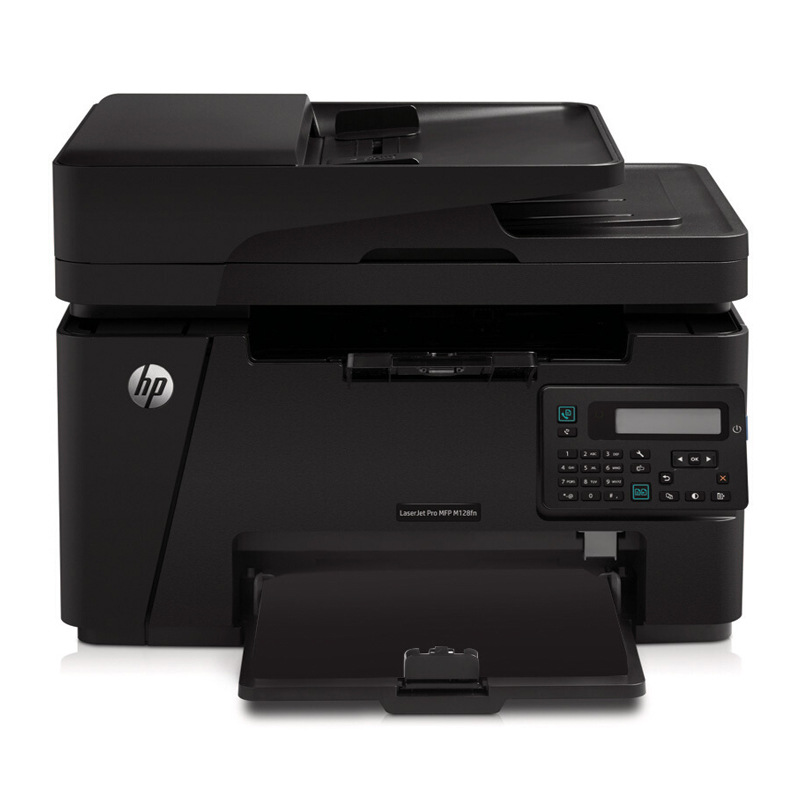 HP m128fn black and white laser multi function printing continuous copy scanning A4 paper telephone