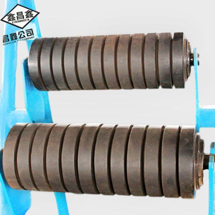 Xinchangxin stainless steel idler wear resistant parallel buffer idler conveyor belt roller unpowere