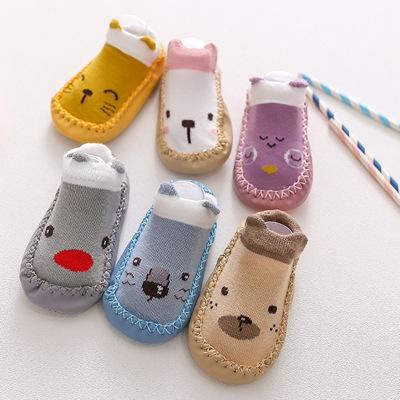 Vớ trẻ em Trẻ em hoạt hình mới vớ em bé bước chân sàn vớ cáo chống trượt giày vớ mềm