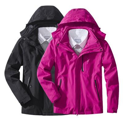 KAISIKE Quần áo leo núi Mùa thu và mùa đông ngoài trời Áo khoác ba trong một của nam giới phù hợp vớ