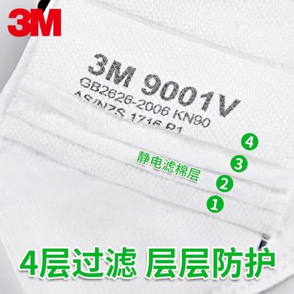 3M  Khẩu trang bảo hộ Khẩu trang 3M KN95 chống bụi, chống giọt nước, chống sương mù, tan miệng, chốn