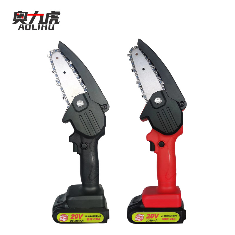 AOLIHU Rechargeable lithium electric saw cutting down trees household lithium battery hand held Mini