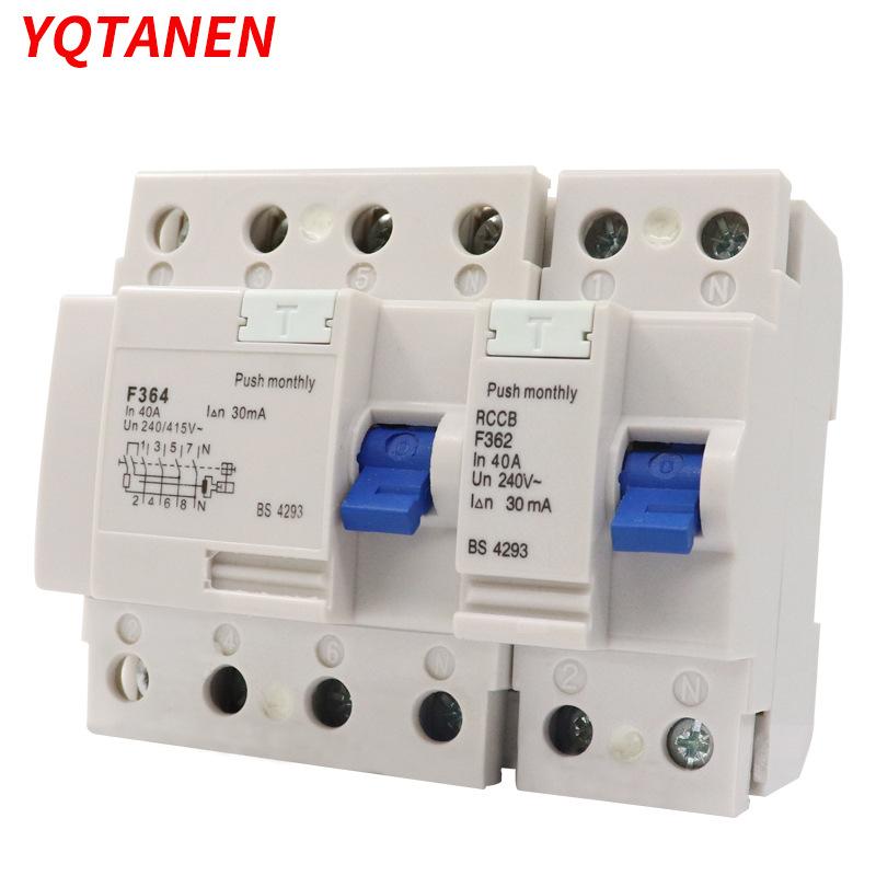 YQTANEN F360 series high section RCCB leakage circuit breaker
