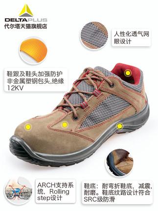 Giày cách điện  Giày thợ điện Delta giày cách điện nam nữ 12KV mùa hè thoáng khí thời trang chống đậ