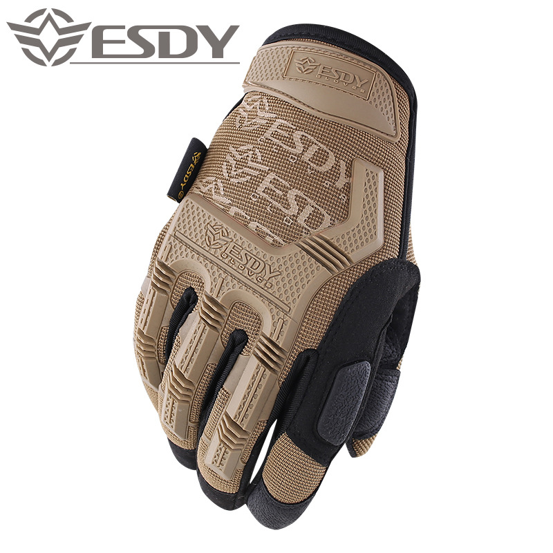 Esdy new seal full finger gloves fiber plastic protective wear resistant outdoor riding climbing glo