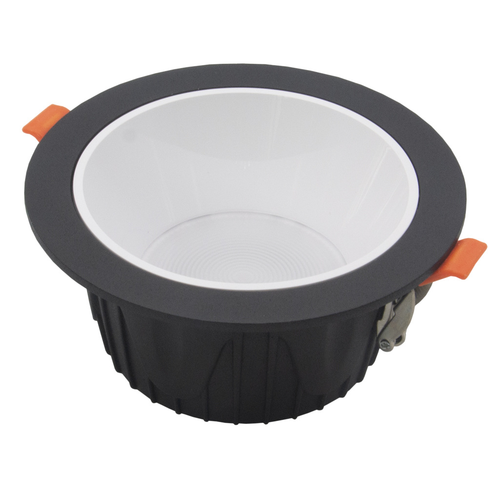 Cob downlight shell 6 inch deep anti glare spotlight kit die casting integrated downlight 8 inch