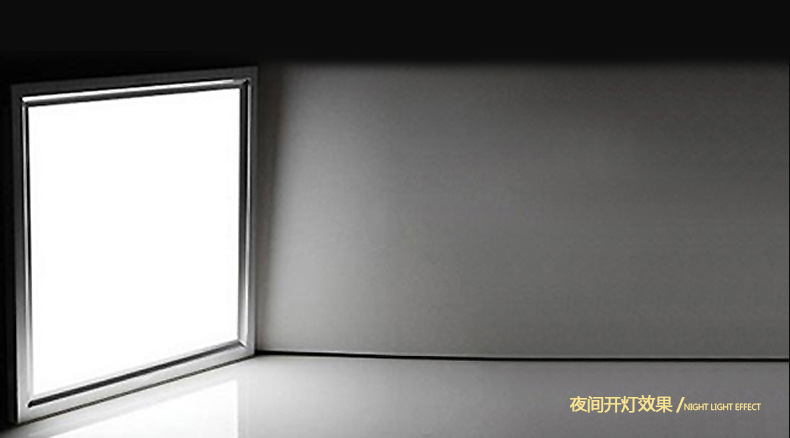 LED integrated ceiling lamp art panel flat kitchen lamp kitchen lighting decoration 300 * 300 embedd