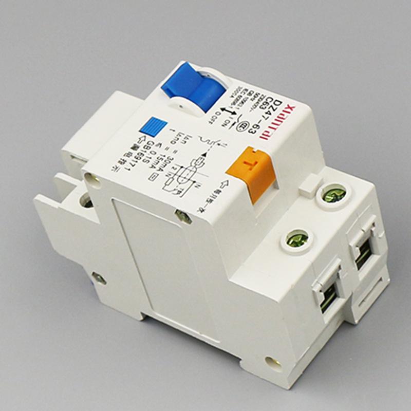 XIANTAI 1p63a leakage circuit breaker dz47le leakage protector