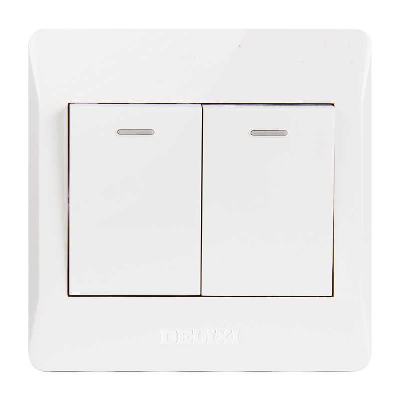 Delixi switch socket domestic panel 86 type concealed one hole five hole three hole 16A power wall U