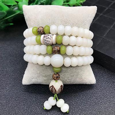 HONGYAN Chuỗi phật Ngọc bích bồ đề tự nhiên vòng tay 108 bồ đề phật ngọc trai vòng tay lotus lotus l