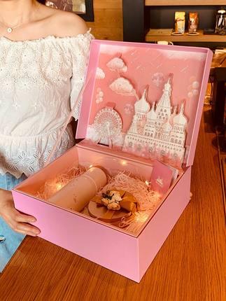 Hộp giấy bao bì  Hộp quà tặng trong gió hộp quà sinh nhật cao cấp cho bé trai và bé gái hộp rỗng cô