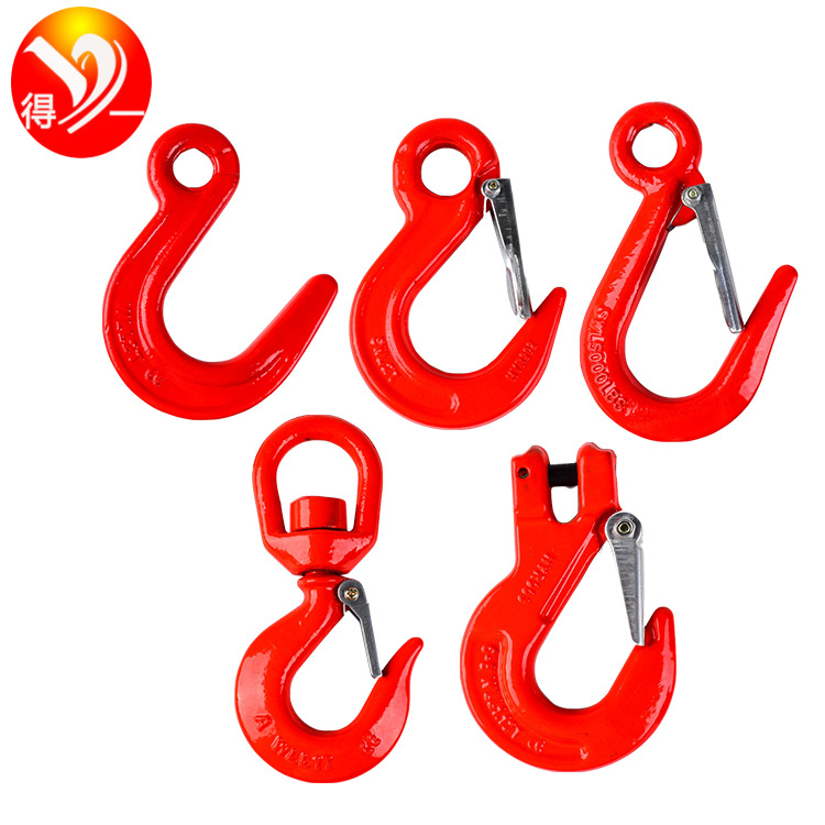 DEYI Hook with large opening, universal rotating hook, angle hook, container hook, crane sling