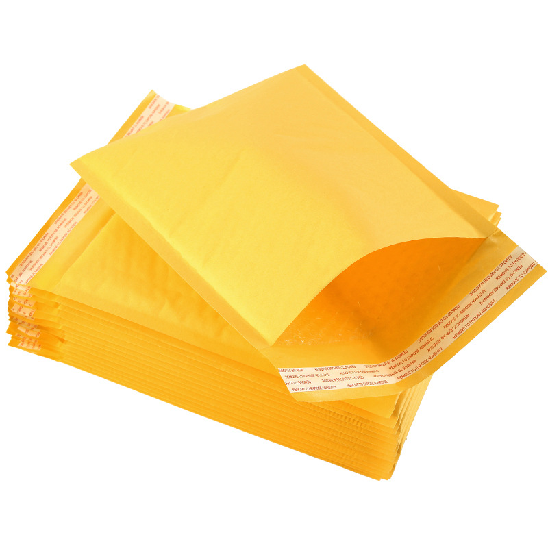 Yellow kraft paper bubble bag clothing express bag logistics packaging bag foam waterproof and shock