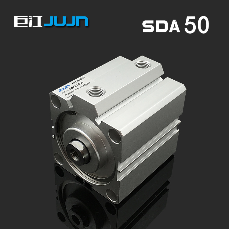 Pneumatic thin cylinder sda50 * 5 / 10 / 15 / 20 / 25 / 30 / 35 / 40 / 50 / 60 / 70 / 80 / 90 square