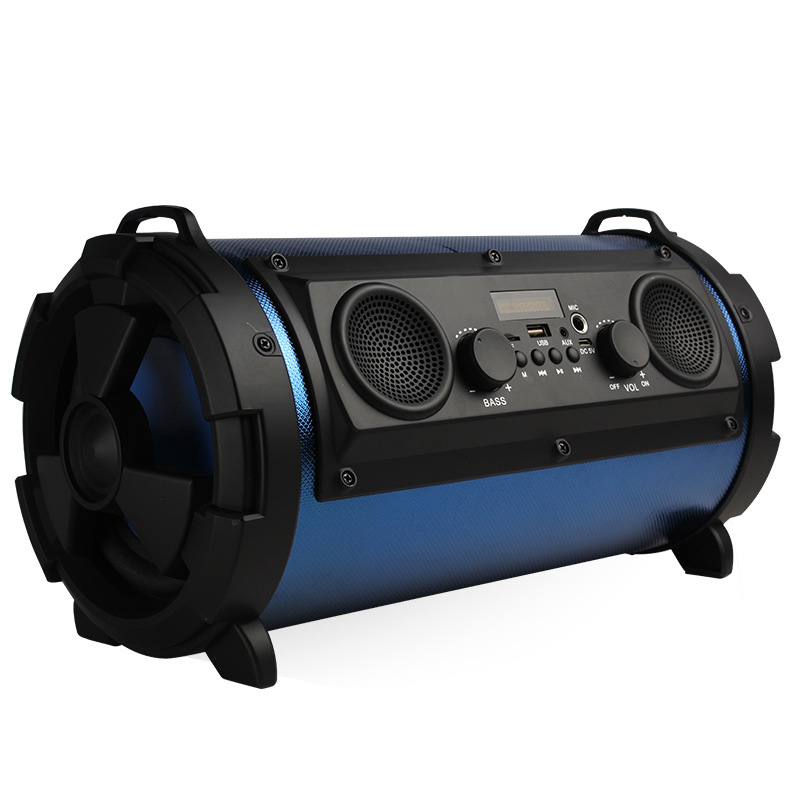 infocore Inver high power gun barrel Bluetooth speaker with radio subwoofer card outdoor portable au
