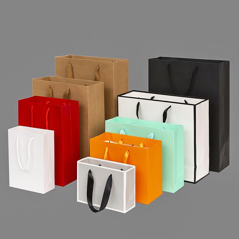 YIDAIKU Thickened gift kraft paper bag customized clothing packaging bag shopping kraft paper handba