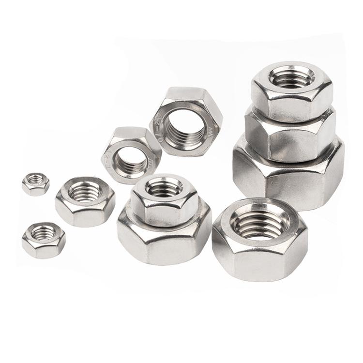 VKV Nickel plated iron carbon steel hexagon nut and nut m2m2.5m2.6m3m3.5m4m5m6m8