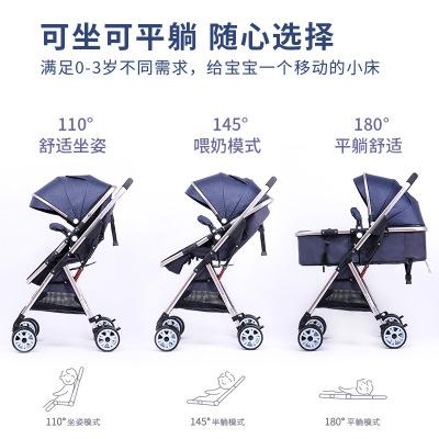 Xe đẩy trẻ em có thể ngồi và nằm xuống, dễ dàng gấp lại .