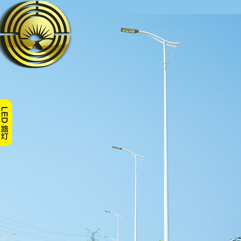 LYHS 8 M 10 m 12 m 15 m LED City circuit lamp high pole A-arm conch arm self bending arm