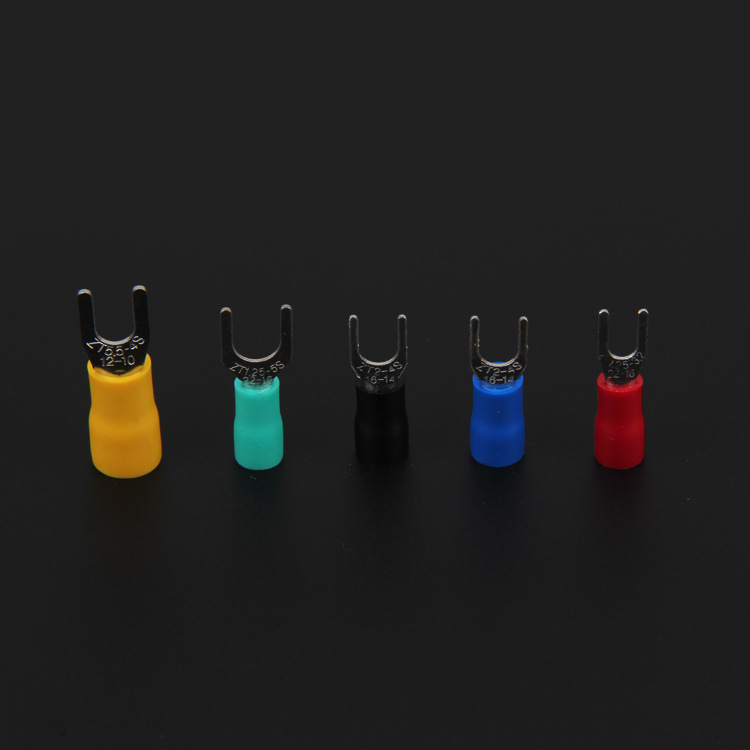 UT fork type 100 / pack sv1.25-3 cold pressed terminal block pre insulated secondary ear copper nose
