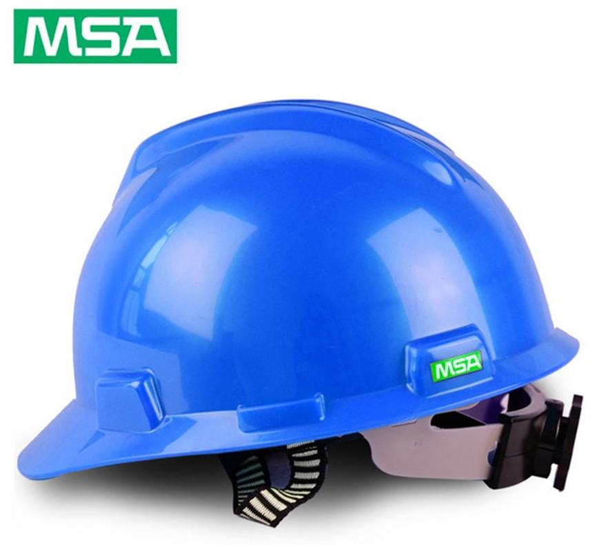 MSA Anti smashing labor protection construction helmet with hole and breathable protective helmet