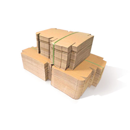 Thùng giấy  Hộp đựng máy bay 100 hộp giấy kraft, bao bì quần áo, thùng vận chuyển Taobao, 3 lớp cực