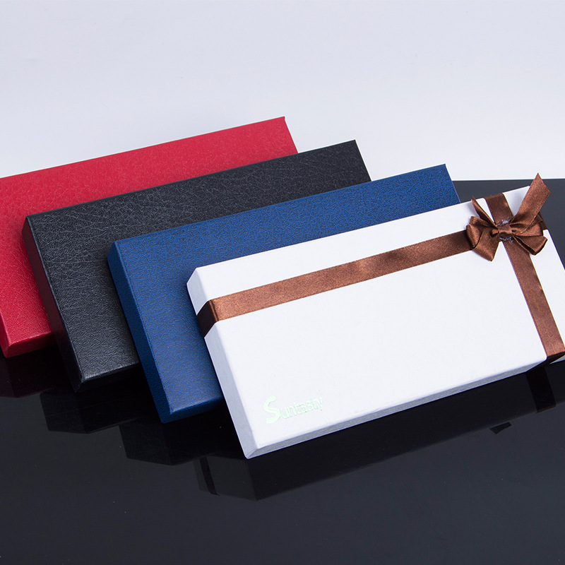 HUIXIN Gift box heaven and earth cover leather gloves kraft paper packing box bronzing hard paper sp