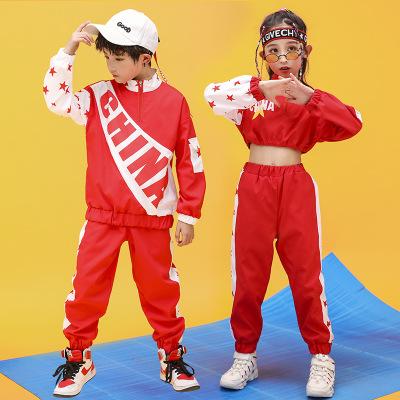 JIAJIAAI Đồ Suits trẻ em Tiền mặt mùa thu năm 2020 mới hip hop trẻ em phù hợp với cô gái hip hop hip