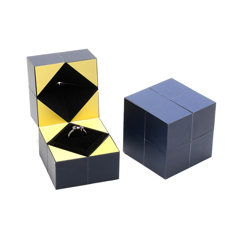 The same magic cube ring box high grade Valentine's Day proposal gift box creative jewelry box