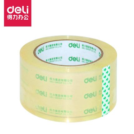Băng keo đóng thùng Băng keo dán trong suốt Deli băng keo rộng băng dính đóng gói có độ nhớt cao và