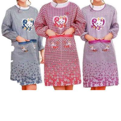 Áo khoác tạp dề vải in hình dành cho chị em nội trợ .