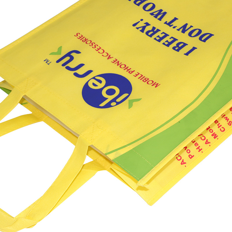 Non woven shopping bags can be customized logo color printing, free design coated non-woven bags