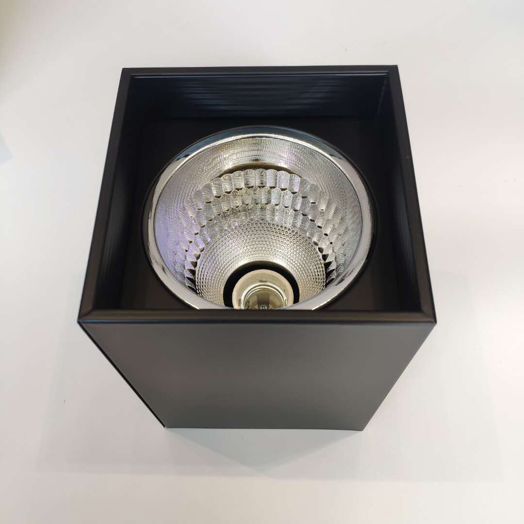 Specializing in the production of traditional screw E27 square surface mounted downlight shell witho
