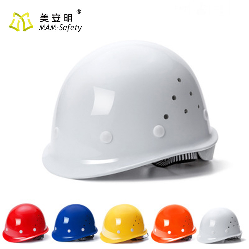 FRP safety helmet thickening and air permeability construction site engineering construction anti sm