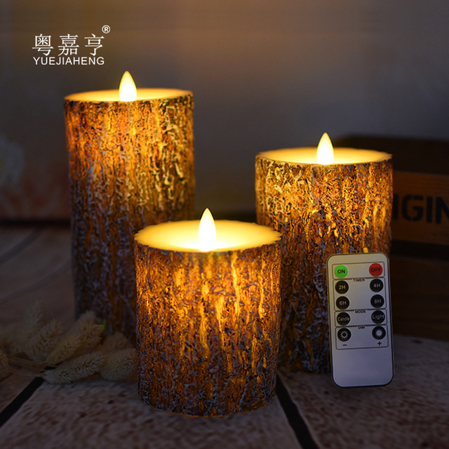 YUEJIAHENG Pine rocking remote control electronic candle lamp romantic birthday expression creative