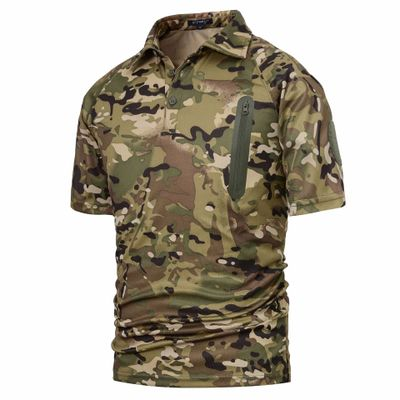 QIBAISI Áo nguỵ trang lính Qibaisi áo phông rằn ri chiến thuật Áo phông rằn ri nhanh khô Áo phông rằ