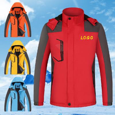 HSKL Quần áo leo núi Áo khoác nam thể thao ngoài trời mùa đông mới in logo tùy chỉnh chống gió và áo