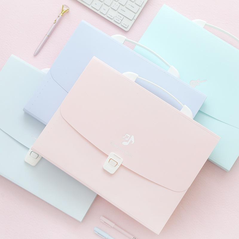 BOKE Simple PP13 start to carry organ bag multi layer file bag A4 folder student handbag storage fil