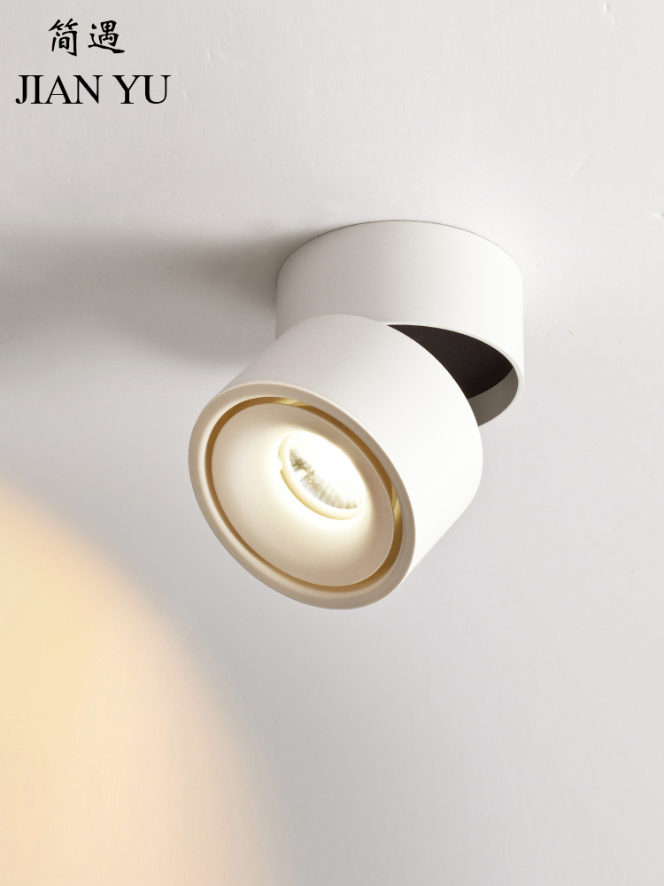 Anti glare Nordic surface mounted spotlight led downlight living room ceiling lamp corridor lamp was