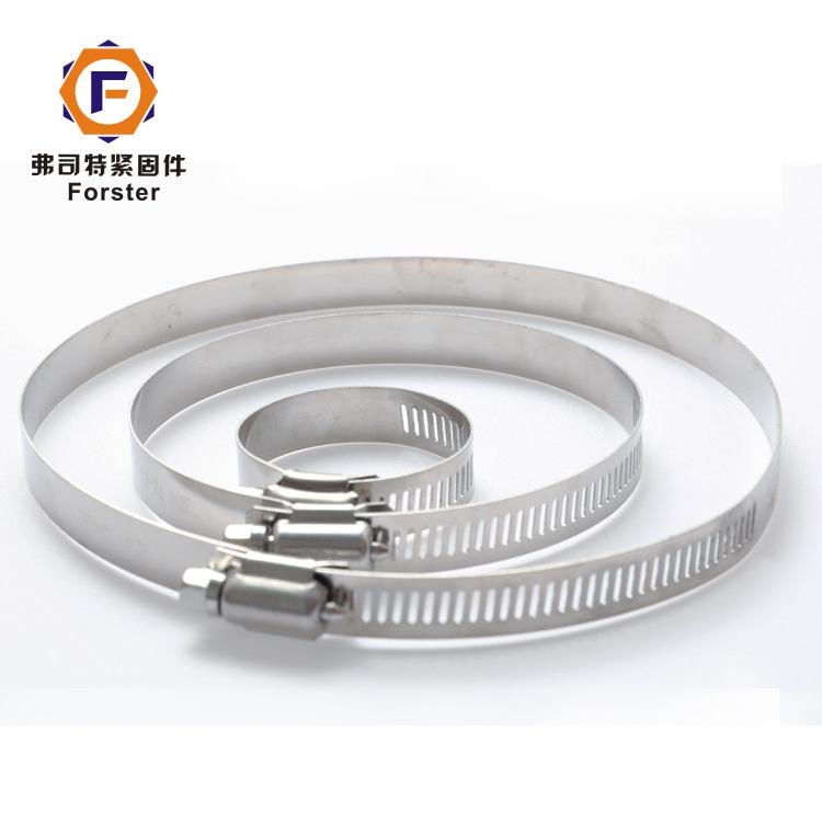 FORSTER304 stainless steel clamp American type throat hoop slotted pipe hoop