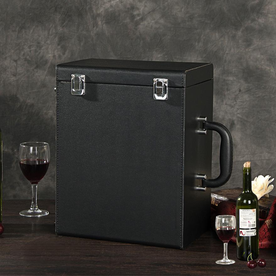 Business red wine box six bottles red wine box 6 pcs leather box wine packaging gift box wooden box