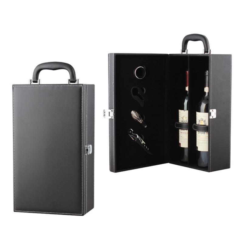 YUZHONG Needle pattern double gift box 3 colors optional wine leather box 2 Pack