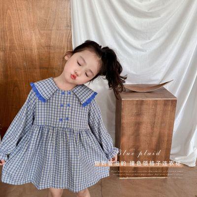 HSENTING Đầm váy trẻ em Năm 2020 mùa thu trẻ em quần áo hàn quốc phiên bản mới của trường cao đẳng t