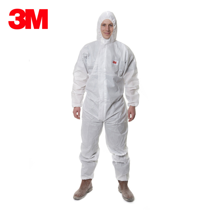3M 4515 one piece protective clothing with cap, spray paint suit, dustproof suit, breathable work su