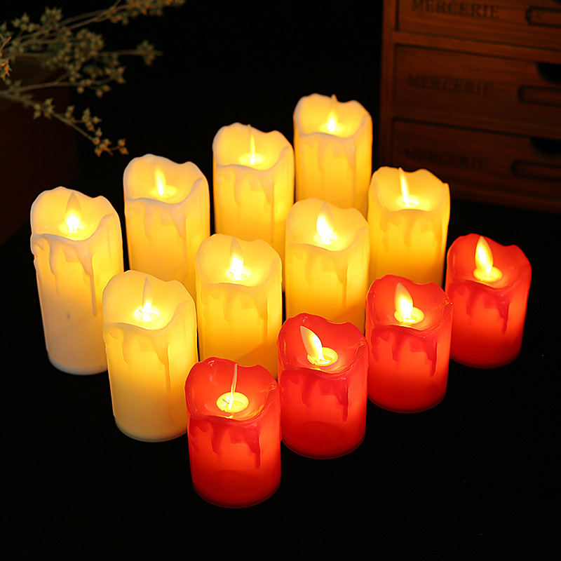 Valentine's day birthday confession led candle lamp wedding atmosphere arrangement props flameless