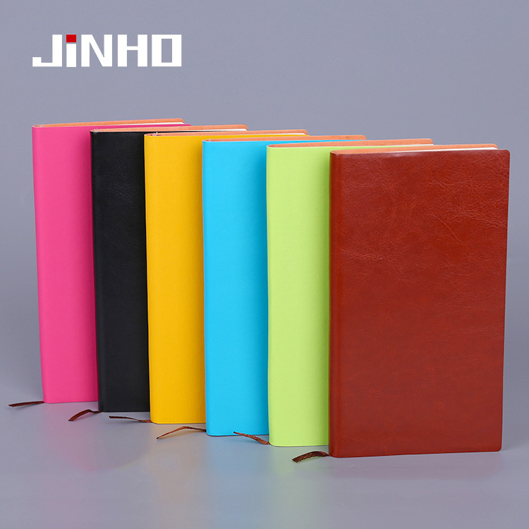 JINHAO Office supplies business notebook customized creative PU leather Notepad customized logo colo